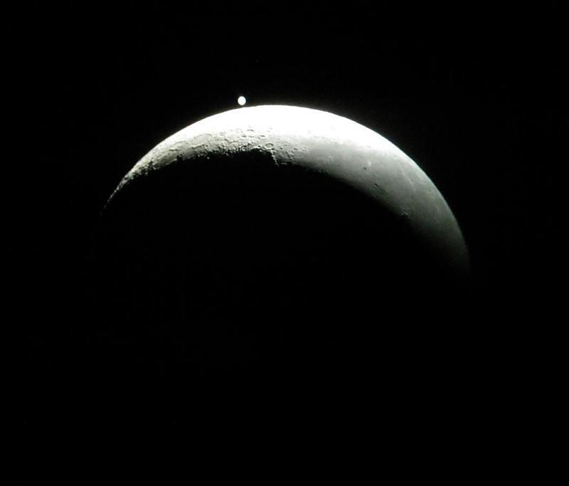 in پديده های نجومی عکاس : آسمون اختفا ماه و مشتری