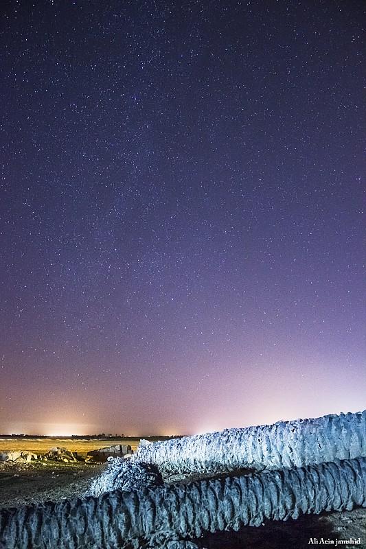 in نجومی ( ميدان ديد باز) عکاس : علی آئین جمشید نخل و آسمان