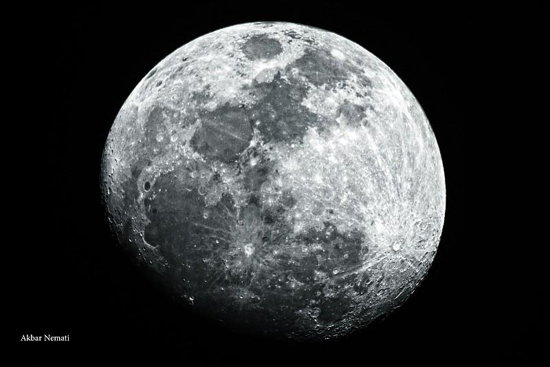in نجومی (عمق آسمان) عکاس : نعمتی Moon