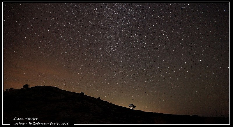 in نجومی ( ميدان ديد باز) عکاس : mehrjoo شبی با ستارگان در جزیره