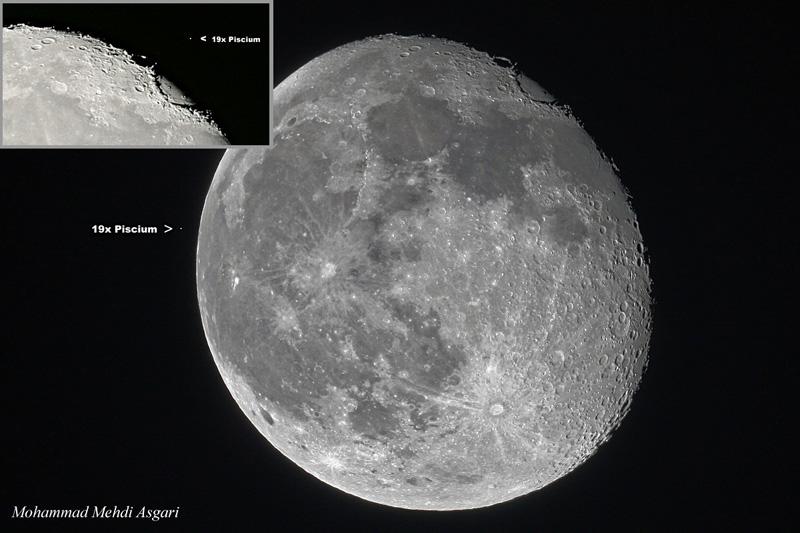 in پديده های نجومی عکاس : محمد مهدی عسگری اختفای ماه و ستاره ای از حوت