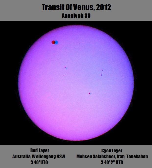 in پديده های نجومی عکاس : mohsen4465 نمای سه بعدی از گذر زهره