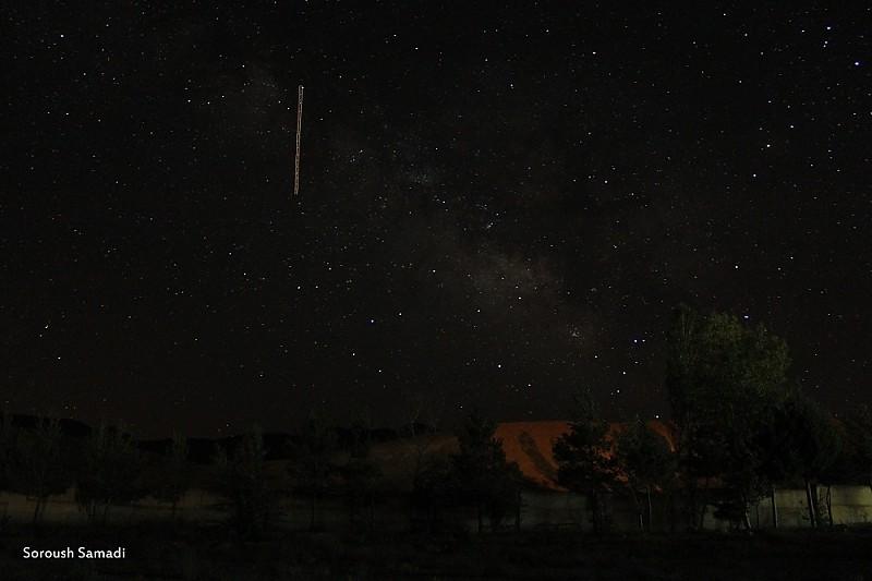 in نجومی ( ميدان ديد باز) عکاس : Soroush Samadi Milky Way