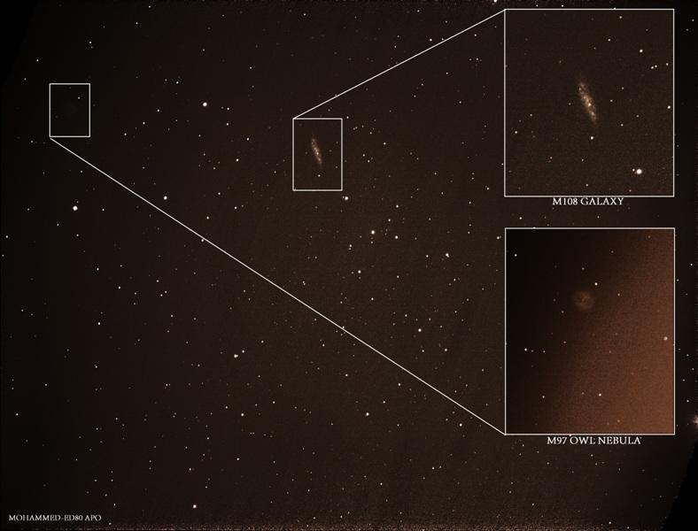 in نجومی (عمق آسمان) عکاس : Sky-Watcher M108 GALAXY &M97 OWL NEBULA