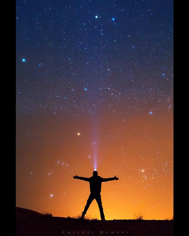 in نجومی ( ميدان ديد باز) عکاس : Amirali Look up at sky