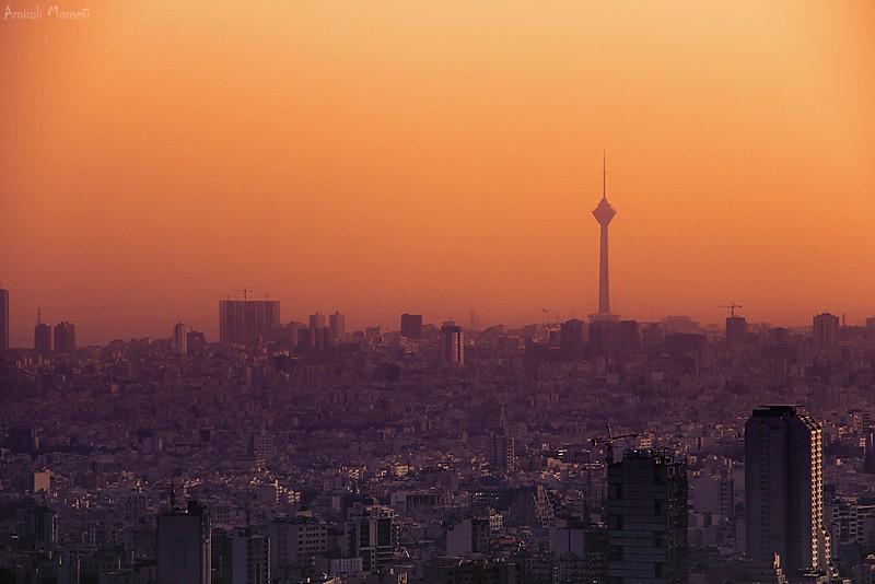 in مناظر عکاس : Amirali Tehran Sunset