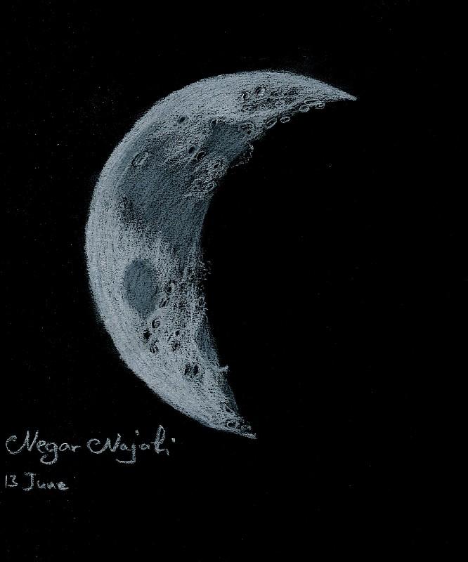 in طرح های نجومی اعضا ( اسكچ) عکاس : Negar Najafi Moon